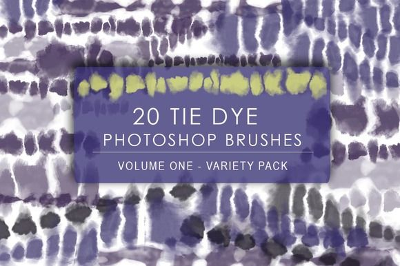 Digital Tie Dye Brushes Vol. 1 by PrismLightStudios on @creativemarket  Have you ever wanted to create Tie-dye patterns in Photoshop? I created this recently and launched on Creative Market! Check it out!