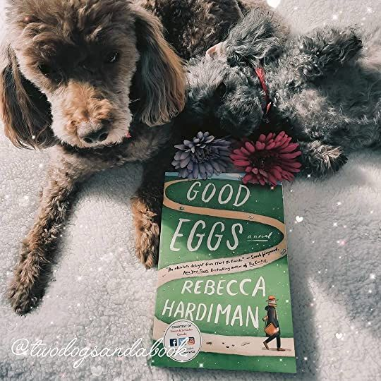 Click on the image to read my complete book review. #bookstadog #poodles #poodlestagram #poodlesofinstagram #furbabies #dogsofinstagram #bookstagram #dogsandbooks #bookishlife #bookishlove #bookstagrammer #books #booklover #bookish #bookaholic #reading #readersofinstagram #instaread #ilovebooks #bookishcanadians #canadianbookstagram #bookreviewer #bookcommunity #bibliophile #goodeggs #rebeccahardiman #bookreview