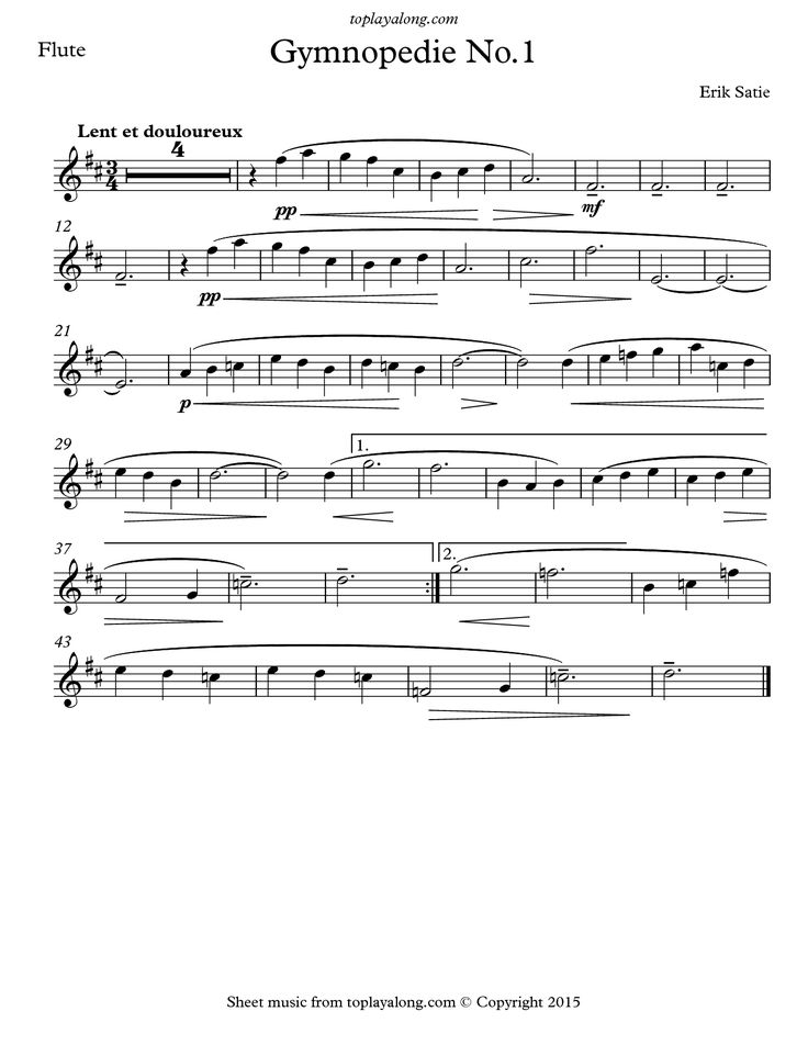 Best Flute Sheet Music Images On   Backing Tracks