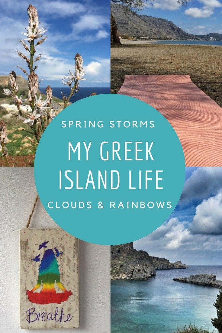 spring storms clouds and rainbows #mygreekislandlife