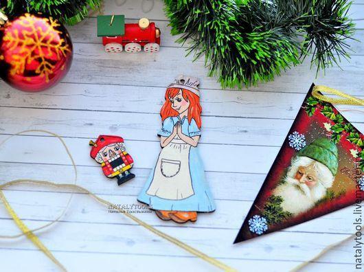Новый год 2017 ручной работы. Ярмарка Мастеров - ручная работа. Купить Мари и Щелкунчик деревянные Новый год рождество подарок Nutcracker. Handmade.