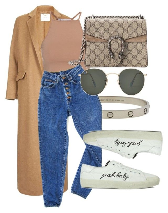 """#Look:#531"" by dollarwomanlux ❤ liked on Polyvore featuring Topshop, NLY Trend, Cartier, PèPè, Gucci, Yves Saint Laurent and Ray-Ban"