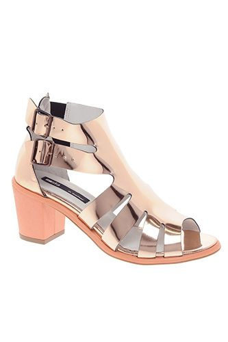 Gold Shoes — Cute Gilded Sandal Styles 2013