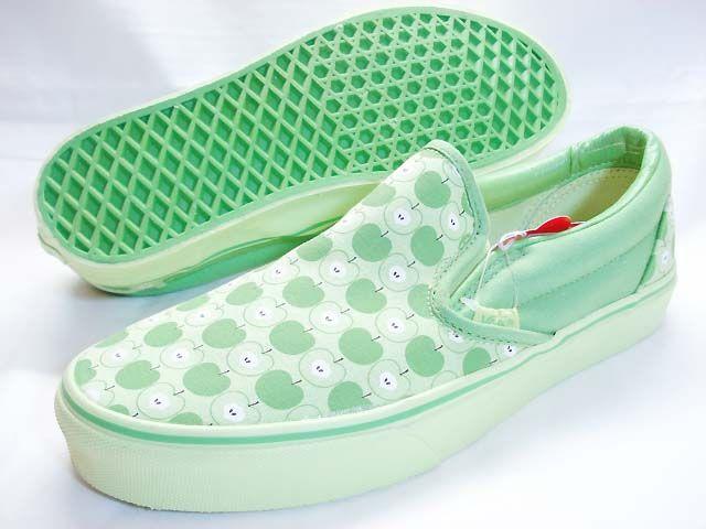 Green Apple Slip On Vans