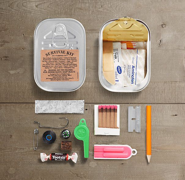 Survival Kit in a Sardine Can™ Got an adventure enthusiast on your list? This will delight them to no end
