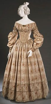 Woman's Day Dress Made in United States c. 1838 Artist/maker unknown…