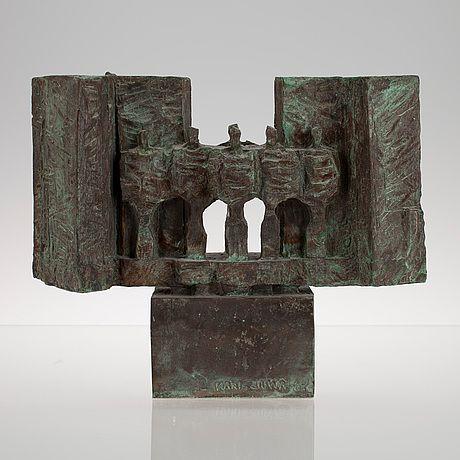 Kari Juva: Tannerin portti, 1984, pronssi, k. 24 cm- Bukowskis Market 7/2013