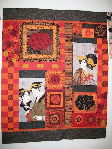 Something Asian quilting fabric panels