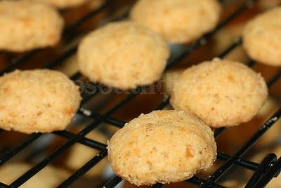 Spicy Cheese Bites:  they are a great make-ahead appetizer munchie for game day or any party or gathering.  This recipe makes a large batch but can easily be halved. Sort of like the flavor of a cheese straw, another very popular Christmas appetizer, but with an unexpected crunch from Rice Krispies cereal that'll have folks wondering what it is.