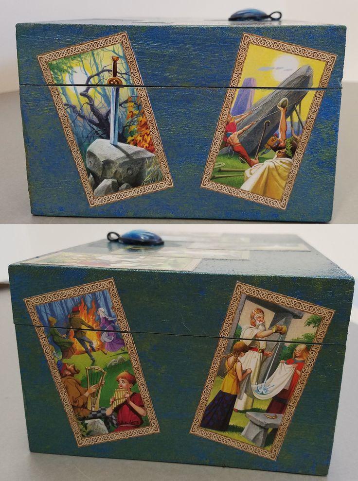 Custom Druid Tarot Box for sale on Etsy - sides