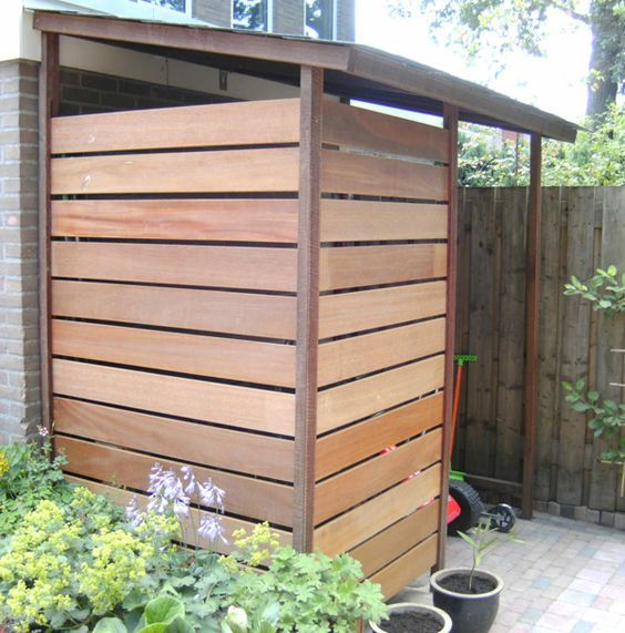 Perfect storage solution for outside, half height version would be good for wheelie bins: