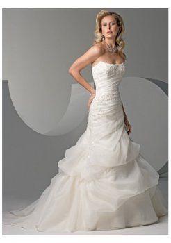 Sencillos vestidos de novia strapless 2012 bonitas