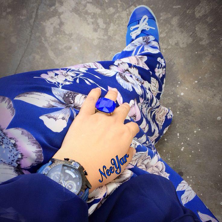 Gamis syarie lovely blue