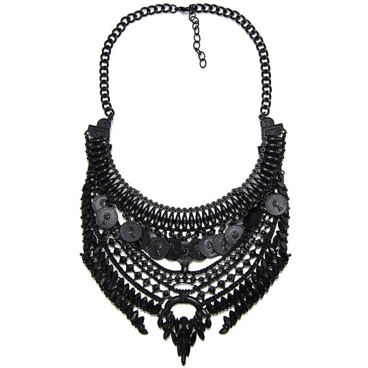 Claudine Chunky Black Maxi Statement Necklace