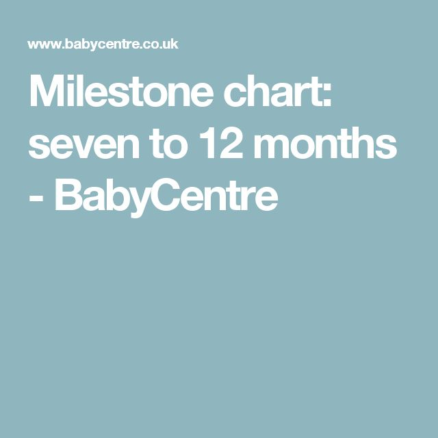 Milestone chart: seven to 12 months - BabyCentre
