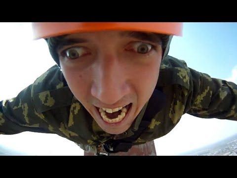 The Most Funny Jump Ever  He jumps at 1:49....HILARIOUS!