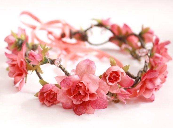 coroa de flores para o cabelo, coroa de flores comprar, tiara de flores, headband, tiara de rosas, flores rosas, tiara, acessório para o cabelo, lembrancinha 15 anos, debutante, lembrança de aniversário, lana del rey - G. Offer