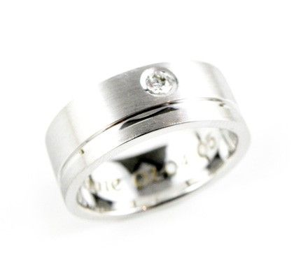 This stylish silver ring is sure to highlight the masculinity of any man. The subtle diamond detail can create a faint flourish of elegance while still maintaining a sleek and masculine appearance.     Contact Anania Jewellers in Sydney about this piece by enquiring now: http://www.anania.com.au/catalog/wedding/mens-wedding-band-wr0017
