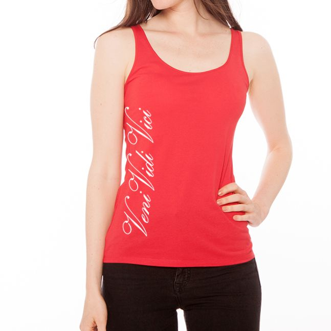 Zyzz Ladies Veni Vidi Vici tank top! $23.95 from Ripped Generation Gym Wear! #Zyzz #LadiesTankTop #Ladiestop #VeniVidiVici