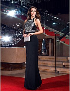 Sheath/Column Off-the-shoulder Sweep/Brush Train Jersey Evening Dress inspired by Anne Hathaway. Get amazing discounts up to 70% Off at Light in the Box with Coupon and Promo Codes.
