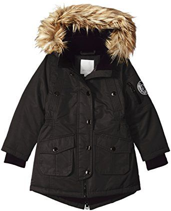 Girls Black Parka Coat