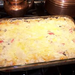 Seafood Lasagna made with shrimp, crabmeat, scallops, alfredo, mushrooms and cheeses! Definitely trying this!