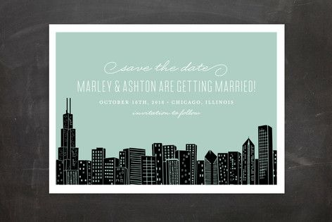 Big City - Chicago Save The Date Postcards by Hooray Creative at minted.com
