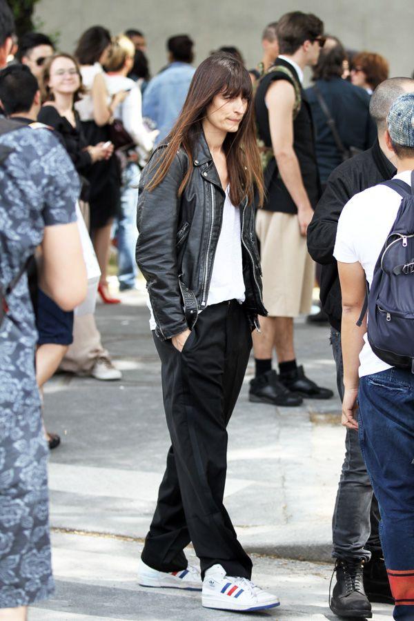 Adidas + Leather Jacket | INSPI HIVER 13 | Pinterest