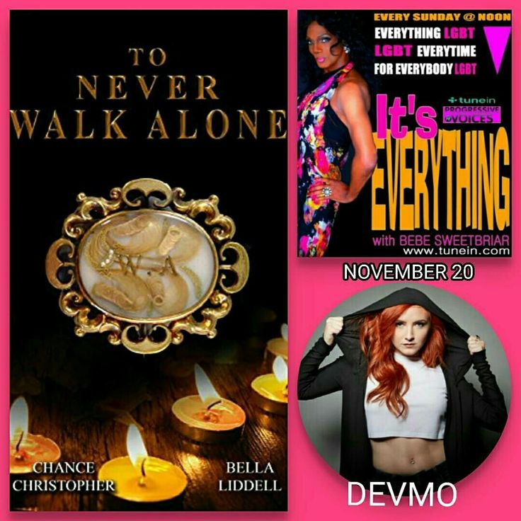 Nov 20 on #ItsEverything Gay-themed Novelists Chance Christopher and Bella Liddell + Bi Female Rapper DEVMO. www.bebesweetbriar.com/podcast