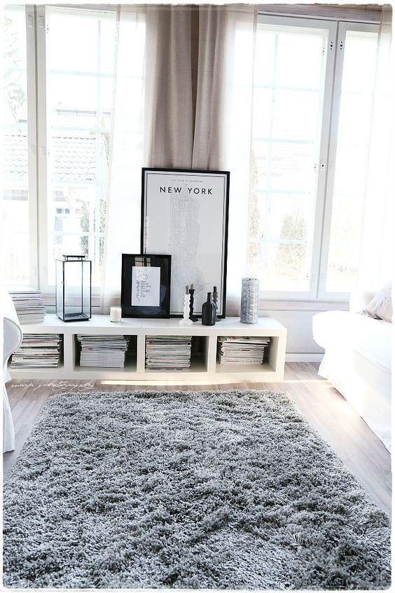 fur rug for bedroom grey