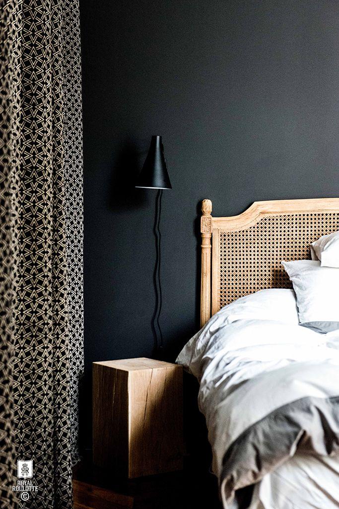 Schlafzimmer Einrichten Dunkle Wandfarbe Dunkelblau Grau Anthrazit