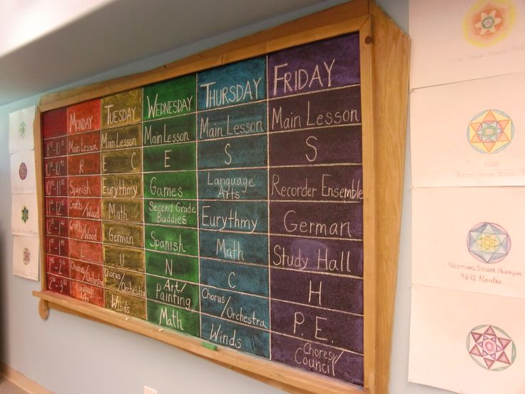 9 best images about teach schedule on pinterest visual for Waldorf at home
