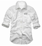 $35 Sigma Tau Gamma Fraternity Classic Oxford 5oz. 60/40 cotton/poly for easy care.  Patch pocket. Embroidered with your Fraternity letters in your choice of thread color.
