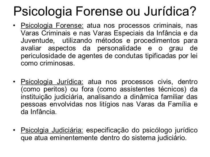psicologia forense / jurídica / judiciária
