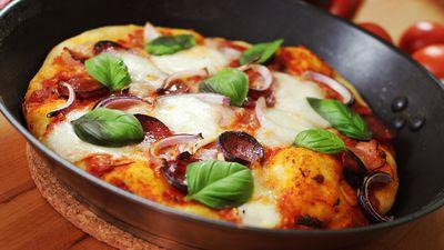 Serpenyős pizza