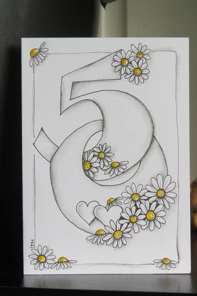 Cartoon number birthday