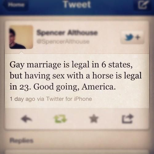 USA! USA! (Oh lordy...): Equality Right, Gay Marriage, Except, Funny Messages, Food For Thoughts, Funny Pictures, Quote, Reality Check, Hilarious Photos
