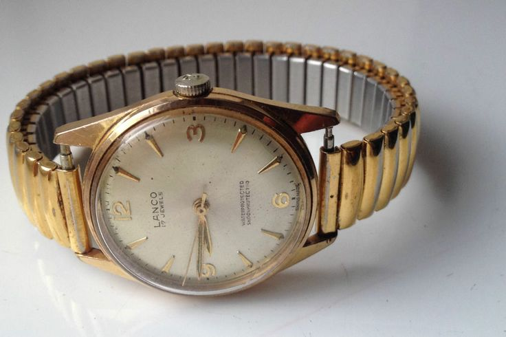 AUCTIONS ENDING ON WEDNESDAY 16 APRIL FROM 8pm NEW AUCTIONS STARTING FROM 8pm........MENS VINTAGE LANCO 17 JEWELS GOLD PLATED SWISS MADE WATCH