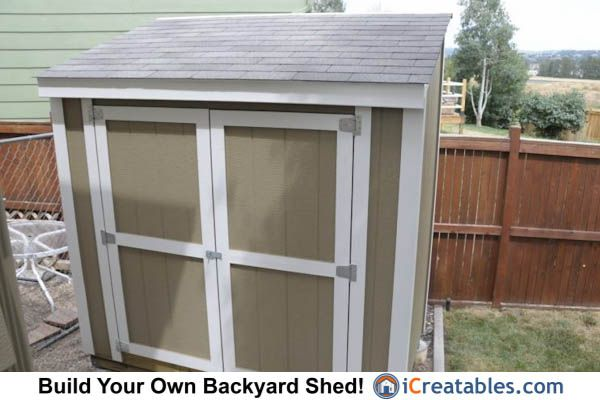 4x8 lean to backyard storage shed. | Owners Shed Pictures ...