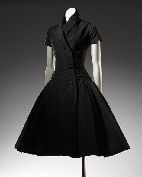 CHRISTIAN DIOR, Paris (couture house)  est. 1946  Christian DIOR (designer)  born France 1905, died Italy 1957  Zelie, cocktail dress 1954 autumn–winter  silk