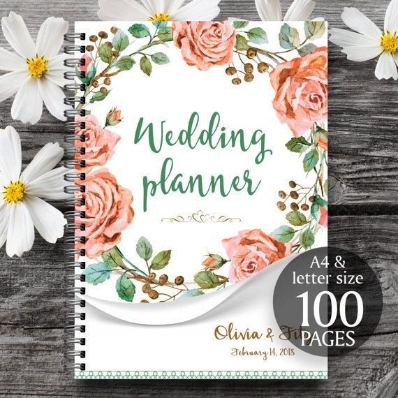 This is a wedding planner with 100 unique pages (including personalised cover page), each page can be printed as many times as you need. It has everything you need to plan a wedding.  IMPORTANT!!! 1. This is a digital file, no physical item will be sent. 2. Please, include your names, wedding date and planner size (A4, A5 or letter) in the Notes section during checkout!  ✳️✳️✳️ You will receive 100 pages: 8.5 x 11, A4 and A5 size in