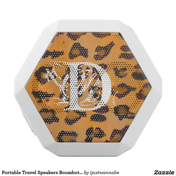 Portable Travel Speakers Boombot REX Leopard Print Monogram Portable Travel Speakers by Boombot REX. Leopard Print Travel Speakers. Very fast shipping Worldwide. Own this Elegant Portable Travel Speakers Boombot REX Monogram Leopard Print Travel Speaker for fun Trips and Holidays NOW! Classic Leopard Print matches every decor! Personalize WITH YOUR INITIALS, automatically, using our template. Monogram Portable Travel Speakers with Beautiful Original Art. $89.40