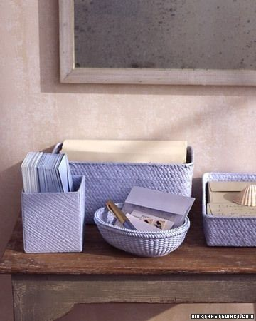 Baskets in all shapes and sizes are always in great supply at thrift stores, and they look even better spray painted.   23 Totally Brilliant DIYs Made From Common Thrift Store Finds