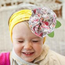 """It is absolutely stunning, while being soft and comfortable on the baby's head without leaving marks.  *100% Cotton stretch fabric and hold hair firmly and does not slip. *One size will fit a newborn - 5 years old girl. 13"""" with lots of stretchy can be worn by adults as well.  *A must have for..."""
