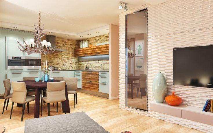 Эклектика в интерьере кухни-гостиной -