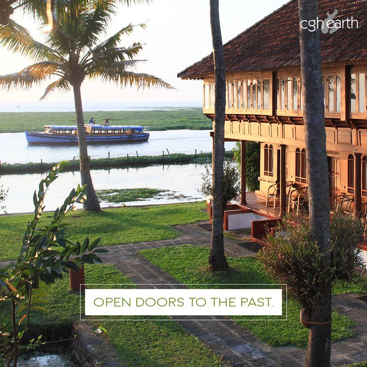 Coconut Lagoon resort's slant-roofed timber-and-tile mansions will take you back to Kerala's past.  #MeAndCGHEarth