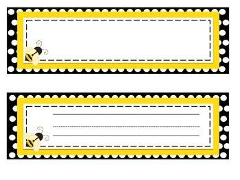 Bee Theme Classroom Decor (name tags!)