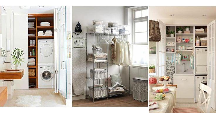 Aunque tengas poco espacio en casa, siempre puedes convertir un pequeño rincón en un práctico cuarto de lavandería.