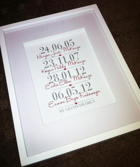 'My Grandchildren' framed print