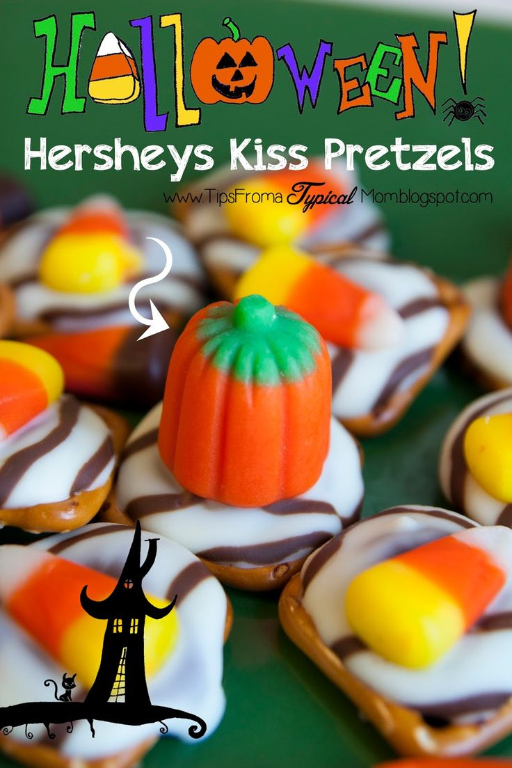 {Halloween} Hershey's Kiss Pretzel Recipe - Tips from a Typical Mom